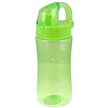 Botella de plástico de la manija del cilindro en forma de té de agua taza de