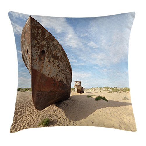 ocean-decor-throw-pillow-cushion-cover-by-ambesonne-lost-ship-in-north-asian-aral-desert-remnant-ari
