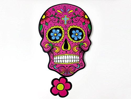 Big Fuchsia Sugar Skull - Day of the Dead -Dia de Los Muertos - Calavera - Pendulum Wall Clock - Wall (Hello Kitty Dia De Los Muertos)