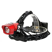 Heng Heng - 2 in 1 600LM High Power CREE R2 LED Bicycle Bike Light Head Lamp Headlamp Red - HNG-BG-000608