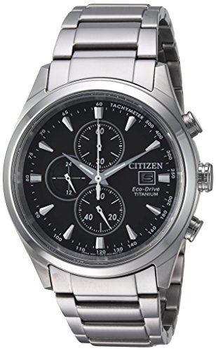 - Citizen Men's Silver-Toned 'Eco-Drive' Quartz Titanium Casual Watch (Model: CA0650-58E)