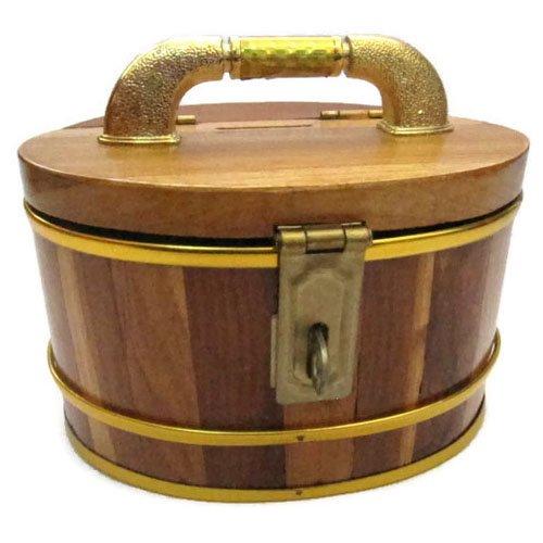 Wooden Handmade Decorative Oval Piggy Bank Vintage Style Storage Box 5 inch (Mens Kermit Suit Costume)