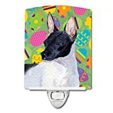 Caroline's Treasures Rat Terrier Easter Eggtravaganza Night Light, 6'' x 4'', Multicolor