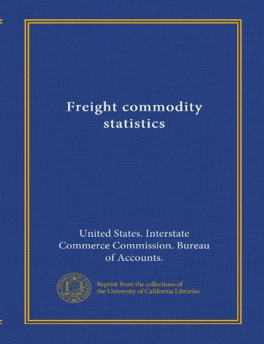 Freight commodity statistics (Vol-1)