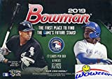 2019 Bowman MLB Baseball EXCLUSIVE Factory Sealed Retail Box with 72 Cards! Look for Rookie Cards & Autos of Wander Franco, Vladimir Guerrero Jr, Kyle Tucker, Ronny Mauricio, Joey Bart & More! WOWZZER