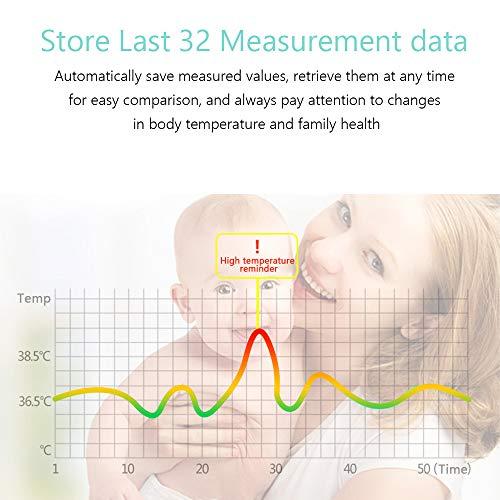 OWSOO Termómetro de Frente, Sin Contacto, Termómetro Digital Infrarrojos para Bebe, Niños, Adultos 5