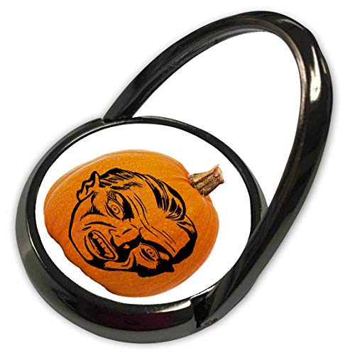 3dRose Sandy Mertens Halloween Food Designs - Jack o Lantern Vampire Face Halloween on Pumpkin, 3drsmm - Phone Ring (phr_290218_1) -