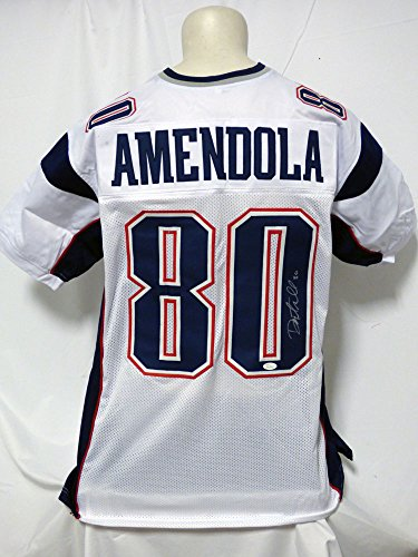 Danny Amendola Autographed Signed Patriots White Jersey JSA