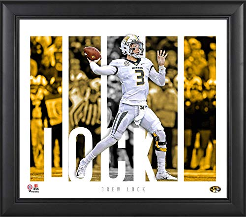 """Drew Lock Missouri Tigers Framed 15"""" x 17"""" Player Panel Collage - College Player Plaques and Collages"""