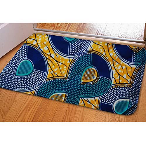 (Beauty Collector African Stripe Flannel Area Rug Soft Nonslip Hallway Kitchen Floor Enter Mat for Apartment Balcony Foyer Sliding Door Entrance Mat Bathroom Bibulous Carpet Welcome Mat)