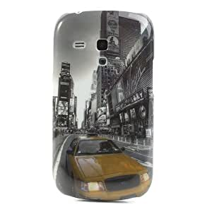 Jujeo Car in the Street Pattern Hard Back Cover Shell for Samsung Galaxy S III Mini I8190