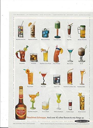 Peachtree Schnapps (--PRINT AD-- For 1992 Dekuyper Peachtree Schnapps 22 Drink Scene --PRINT AD--)