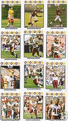 Washington Redskins Football Cards - 5 Years Of Topps Complete Team Sets 2007,2008,2009,2010,2011 - Includes Stars, Rookies & More - Individually Packaged!