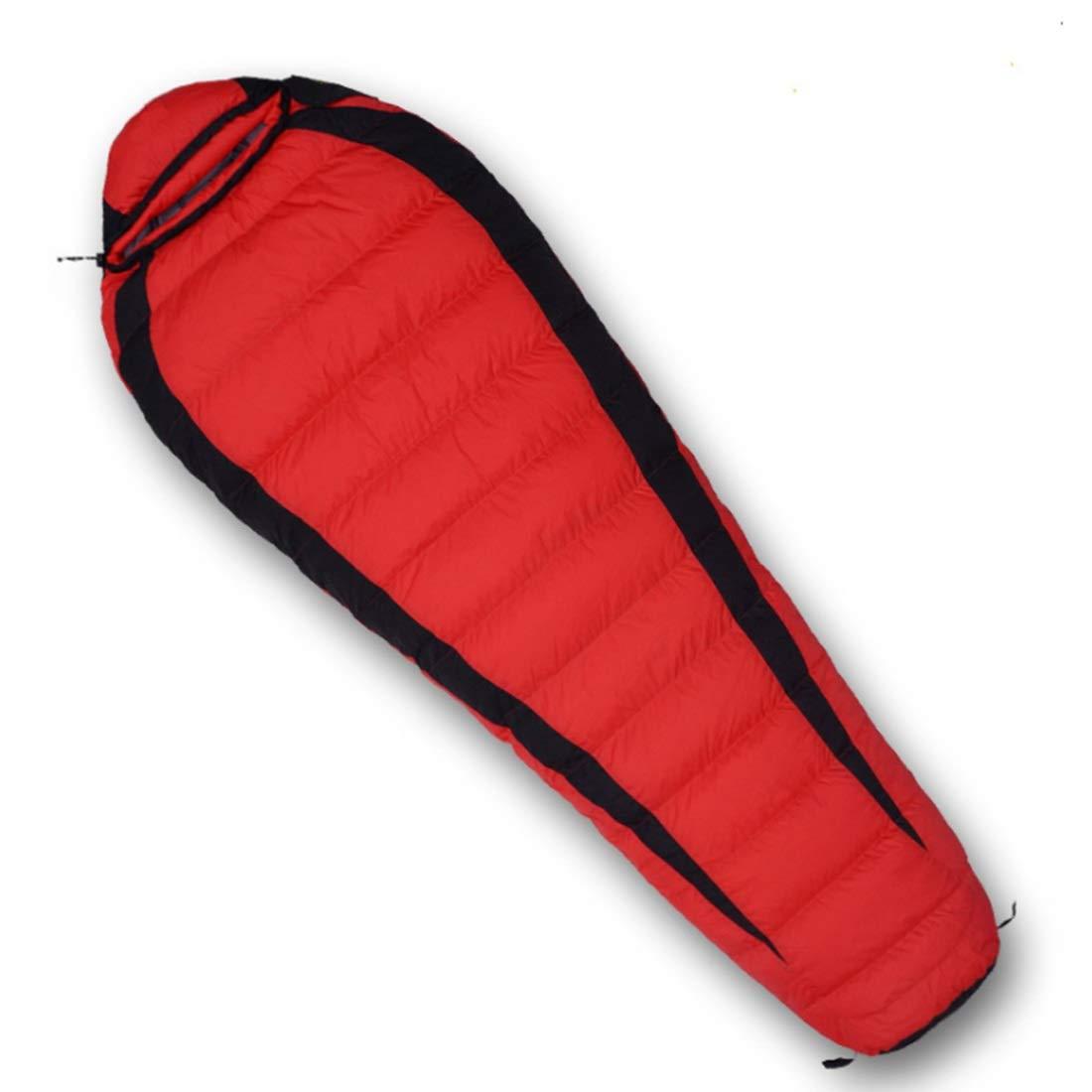 Xasclnis Sac de Couchage pour Adulte idéal pour Voyager, matériel de Camping de randonnée (Couleur   rouge, Taille   1000g) rouge 1000g