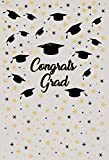 CSFOTO 3x5ft Background for Congrats Grad Graduation Season Photography Backdrop Graduation Cap White Srar College University Graduate Celebrations Graduation Photo Studio Props Wallpaper