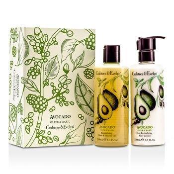 Avocado, Olive & Basil Essentials Set: Bath & Shower Gel 250ml + Body Lotion 250ml + Hand Therapy 100g ()