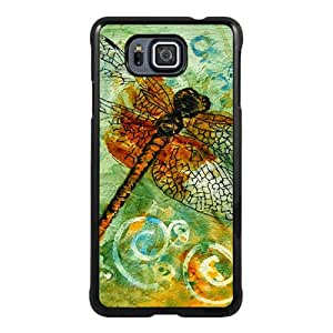 Popular Sale Samsung Galaxy Alpha Case,dragonflies art Black Customized Picture Design Samsung Galaxy Alpha Phone Case