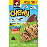 quaker yogurt chewy granola bars - Quaker Chewy Granola Bars, 25% Less Sugar Variety Pack, 18 Bars, Net Wt. 15.2 oz