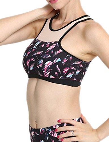 Blooming Jelly femmes soutien-gorge de sport dos nageur Yoga -  multicolore - M