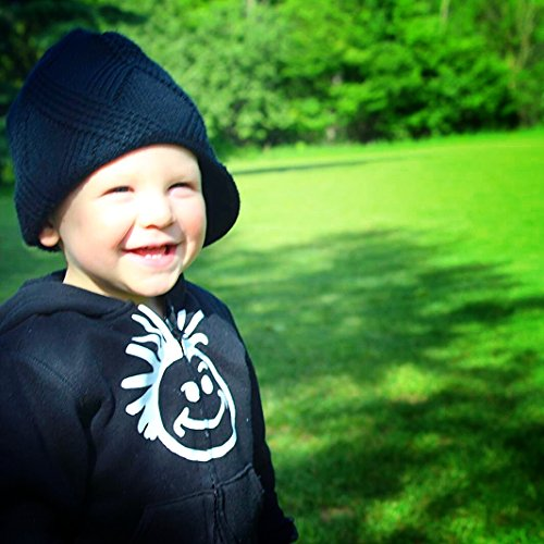 e6355c0390 Born to Love Knuckleheads - Black Boy's Baby Visor Beanie Hat With ...