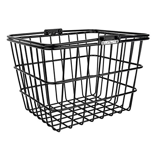 Sunlite Mini Lift-Off Bicycle Basket, Black