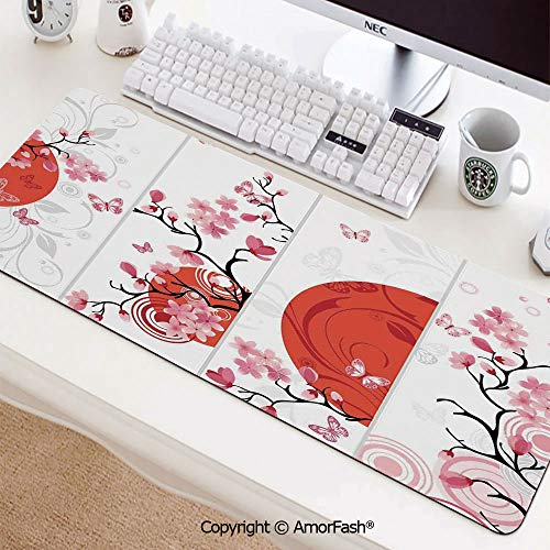 (Gaming Mouse Pad Large Thick Extended Mouse Mat Non-Slip Spill-Resistant Desk Pad,31.5