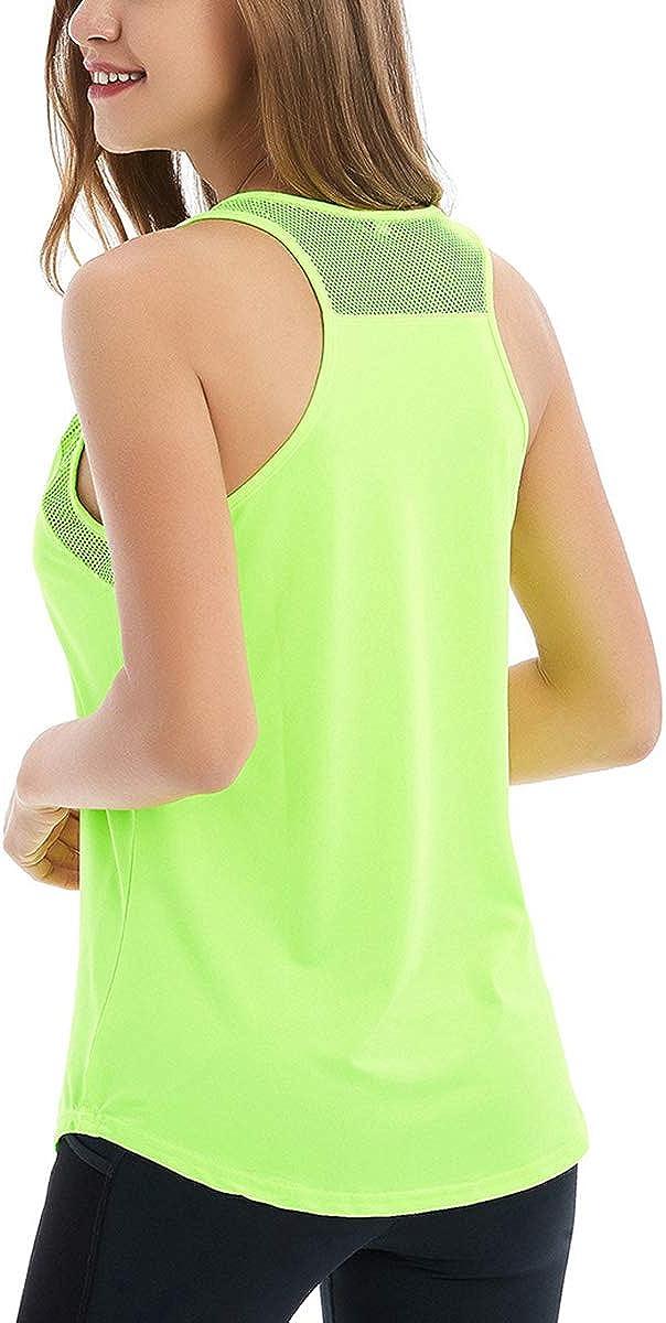 CROSS1946 Damen Sporttop Yoga R/ückenfrei Oberteil Laufen Fitness Funktions Shirt Tank Tops