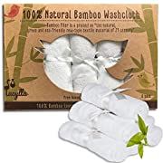 Organic Baby Washcloths - Ultra Soft Bamboo Wash Clothes for Face - Perfect for Sensitive Skin and All Ages (Infant, Kids, Adults) - Super Absorbent and Dye Free - Girl and Boy…