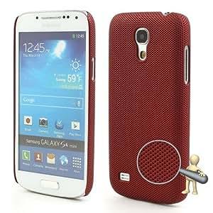 Jujeo - Carcasa para Samsung Galaxy S4 Mini i9190 (plástico) , diseño de rejilla, color rojo