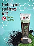 TWIN LOTUS Active Charcoal Toothpaste Herbaliste- Activated Coconut Charcoal Powder - Triple Action Formula - Natural Teeth Whitener - Eliminates Bad Breath- Herbal Whitening - Black - 100g