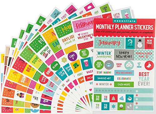 Essentials Month By Month Planner Stickers (set of 475 stickers)