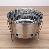 VT BigHome Barbecue Grills Stainless Steel BBQ Burner Oven Outdoor Party Portable Round Foldable Picnic Stoves Heating Stove