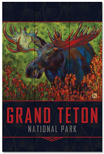 - Grand Teton Autumn Moose Wood Art Print by Kari Lehr (24