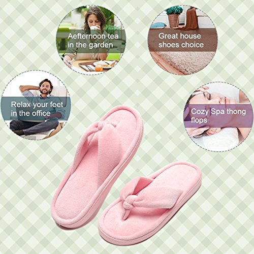 Womens' Memory Slippers Foam Harrms Flat Pink Slip on Home Anx1AqwT