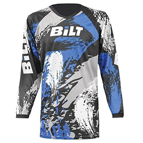 BILT Kid's Amped Off-Road Motorcycle Jersey - XL, Black/Blue by Bilt
