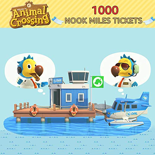 🥇 Animal Crossing: New Horizons 1000 entradas de Nook Miles