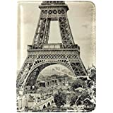 Retro Vintage Eiffel Tower Paris France Travel Passport Covers Holder Case Protector
