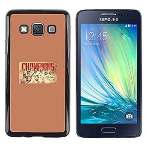 Campeones del béisbol - Metal de aluminio y de plástico duro Caja del teléfono - Negro - Samsung Galaxy A3