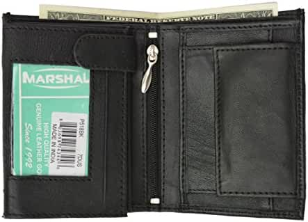 Genuine Premium Leather Trifold European Hipster Card Holder ID Coin Wallet