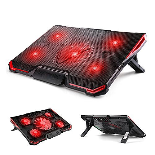 ElementDigital Laptop Cooler Cooling Pad Radiator Ultra Quiet Wind Speed Notebook Computer Laptop Cooler with Adjustable Stand Cooling Pad Adjustable Height and Speed for Gamers and Office by ElementDigital (Image #7)