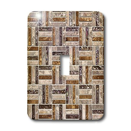 lsp_32474_1 Lee Hiller Designs Tile Prints - Bronze Gold Pewter Brick Tiles Print - Light Switch Covers - single toggle switch