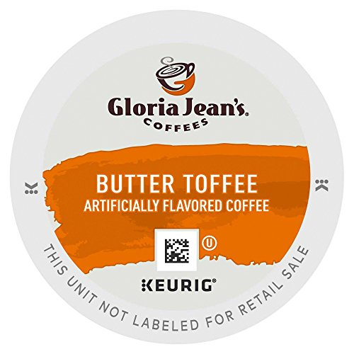 Gloria Jean's Coffee Butter Toffee, K-Cup Portion Pack for Keurig Brewers 96-Count Toffee Flavored Regular Coffee