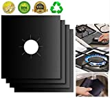 """Gas Stove Burner Covers 10 Pack- XZSUN 0.2mm Double Thickness Reusable Gas Range Protectors For Kitchen&Cooking (10.6""""x10.6"""""""