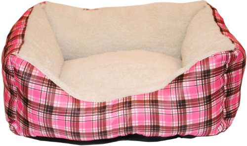 Brinkmann Pet 18-Inch by 14-Inch Plush Box Bed, Pink, My Pet Supplies