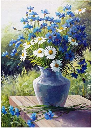 KTHOFCY 5D DIY Diamond Painting Kits for Adults Kids Daisy Flowers Full Drill Embroidery Cross Stitch Crystal Rhinestone Paintings Pictures Arts Wall Decor Painting Dots Kits 15.7X11.8 in
