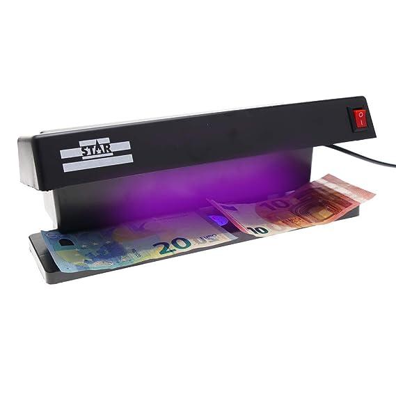 PrimeMatik - Detector de Billetes Falsos UV con 2 Tubos de 6W 280x122x110mm: Amazon.es: Electrónica