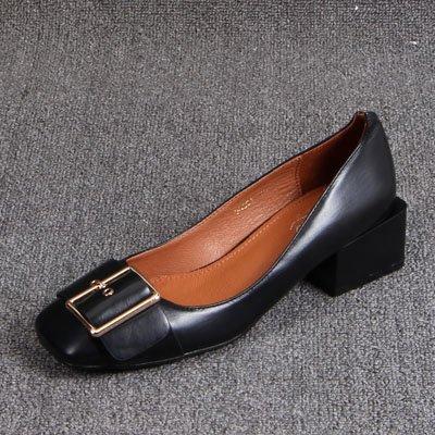 Para En Bold Zapatos Cuadrada Dama Negro GAOLIM Luz Los De Mujer De Reparar Zapatos Y Pies Zapatos Hebilla HvqxfxAw