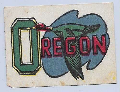 Flocked Stickers Oregon Ducks No Tab VG Condition Set Break (Flocked Duck)