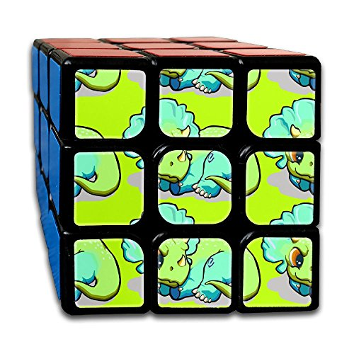Triceratops 3x3x3 Cube Puzzle, Speed Cube, The Best, Carbon Fiber Sticker Smooth Magic Cube (Halloween Costume Rubik's Cube)