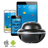 Wireless Portable Fish Finder, Bluetooth Sonar Fishing Finder GPS 330 Feet (100M) Deeper Lithium Battery 6 Hours IOS Android App for Shore Boat Ice Fishing Fish Finders And Other Electronics